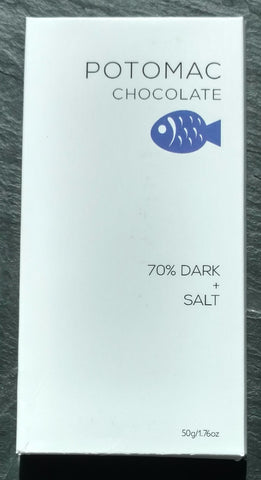 Potomac Chocolate 70% Upala, Costa Rica Dark Chocolate Bar With Salt - Chocolate Bar Suppliers