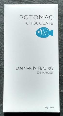 Potomac Chocolate 70% San Martin, Peru Dark Chocolate Bar - Chocolate Bar Suppliers