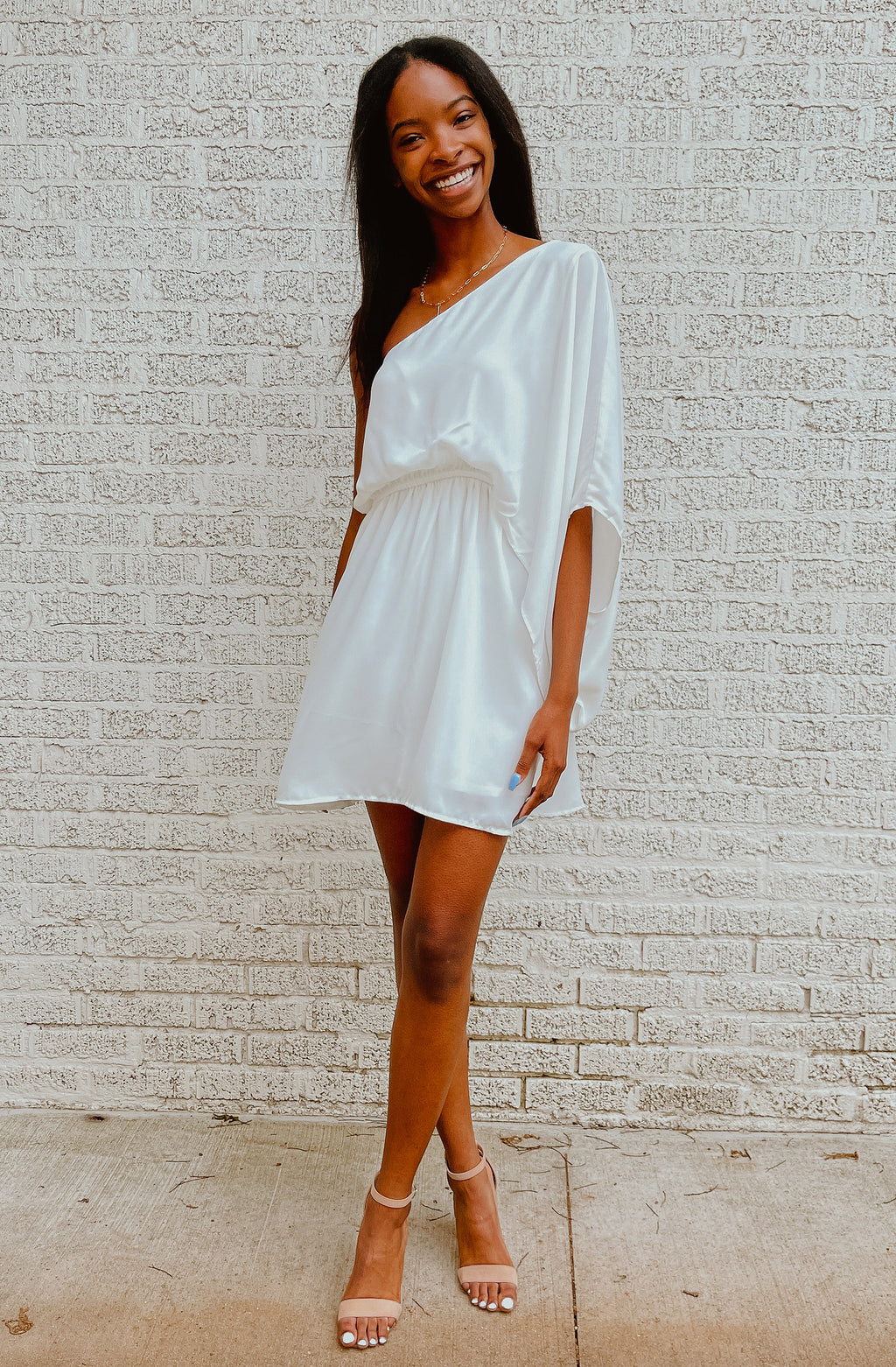 SUMMER DREAMIN' ONE SHOULDER DRESS