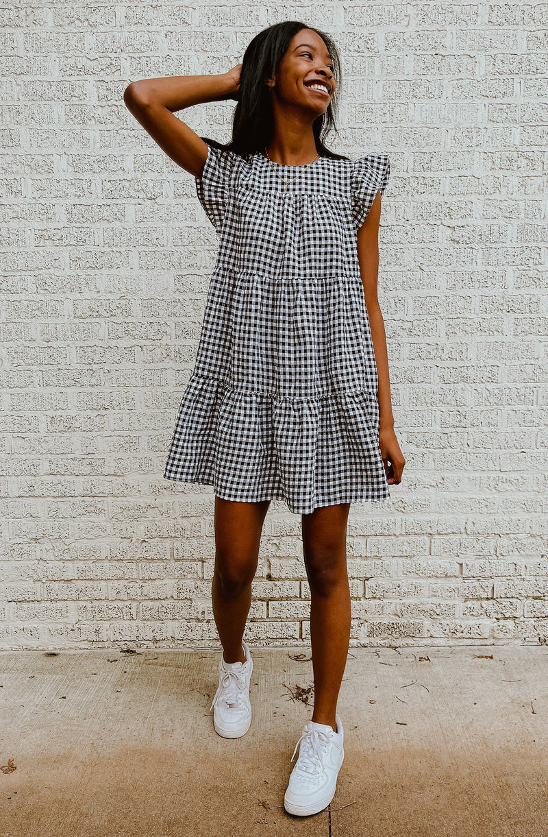 GINGHAM GAL POCKET DRESS