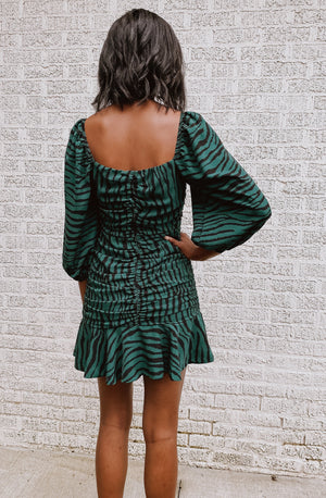 MONEY HONEY TIGER STRIPPED DRESS