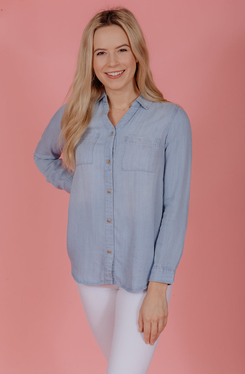 CHAMBRAY DREAMS BLOUSE