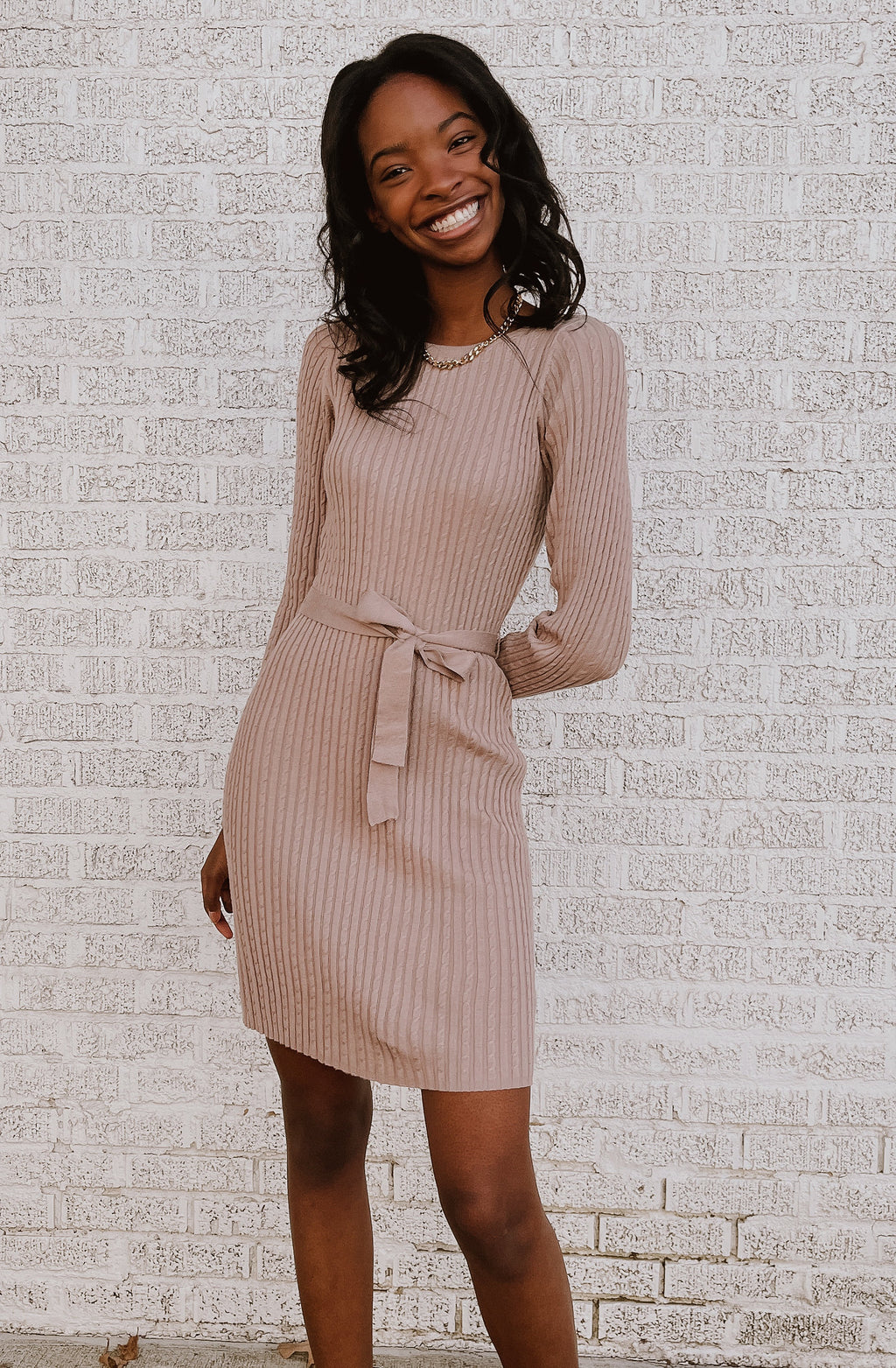 WINTERS IN PARIS SWEATER DRESS