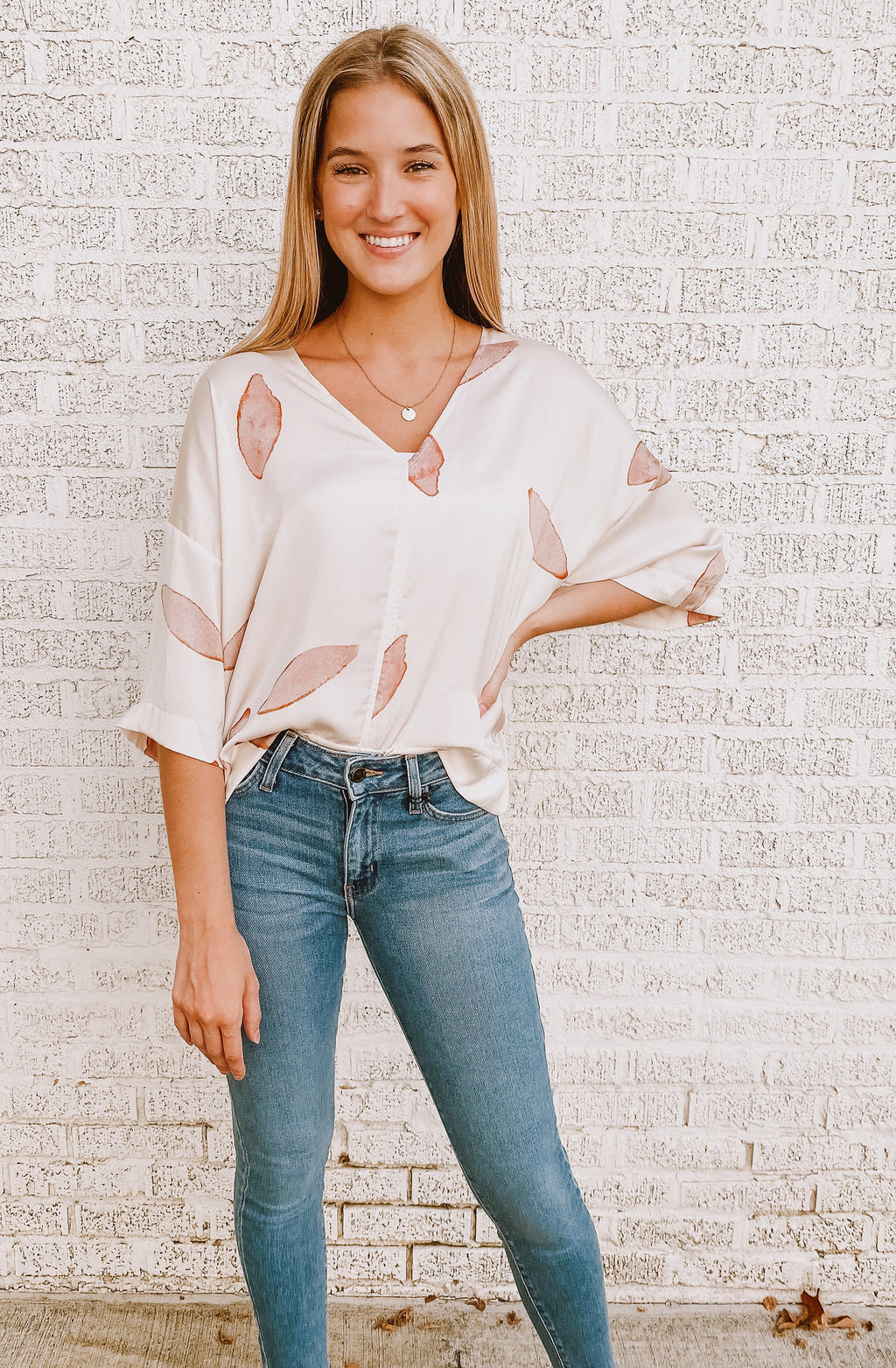 PRETTY AS A PETAL PRINTED BLOUSE