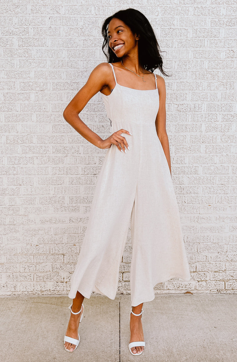HAMPTONS HANGOUT CROPPED JUMPSUIT