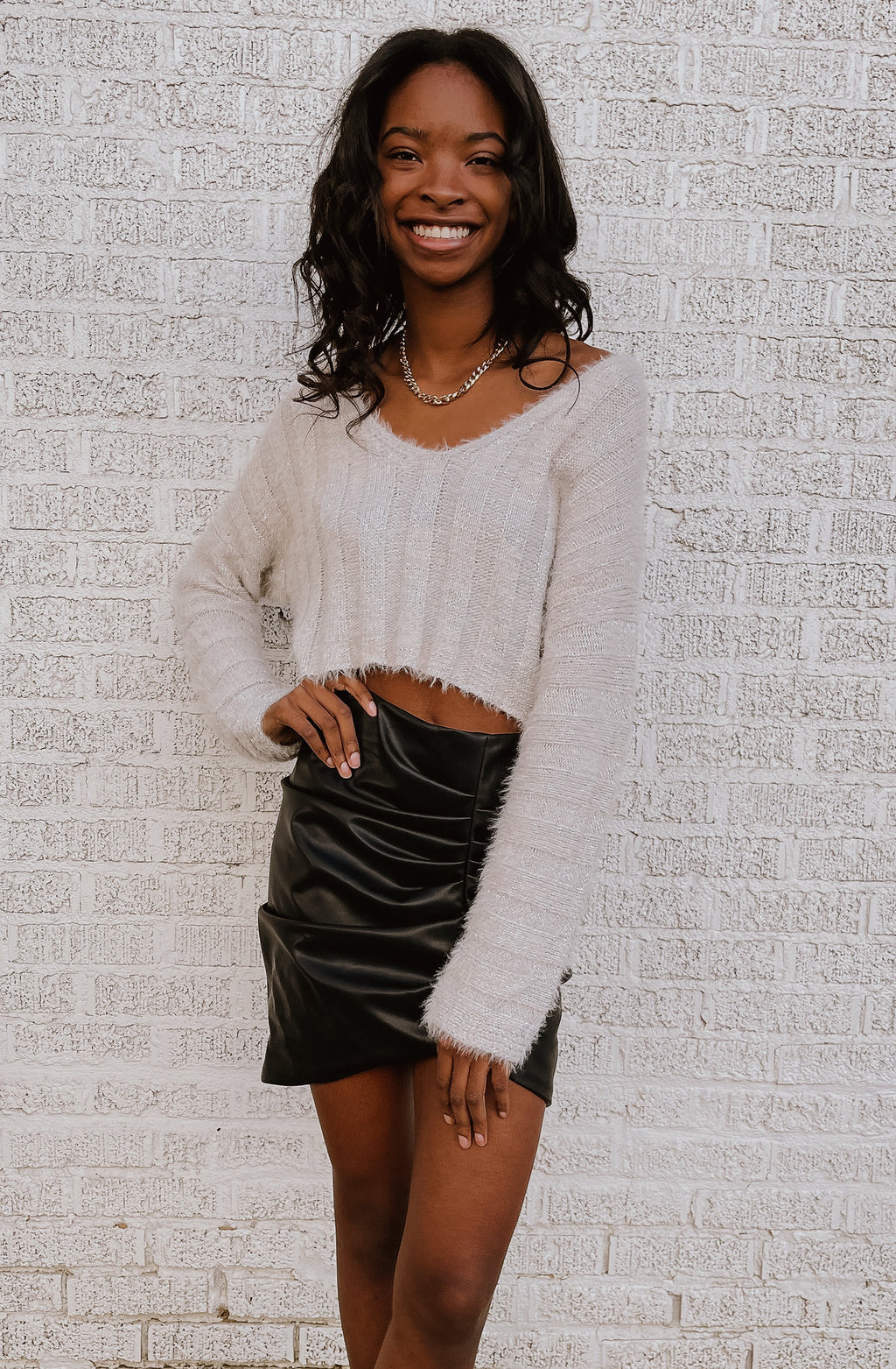 WE'RE A CUTE COMBO CROPPED SWEATER