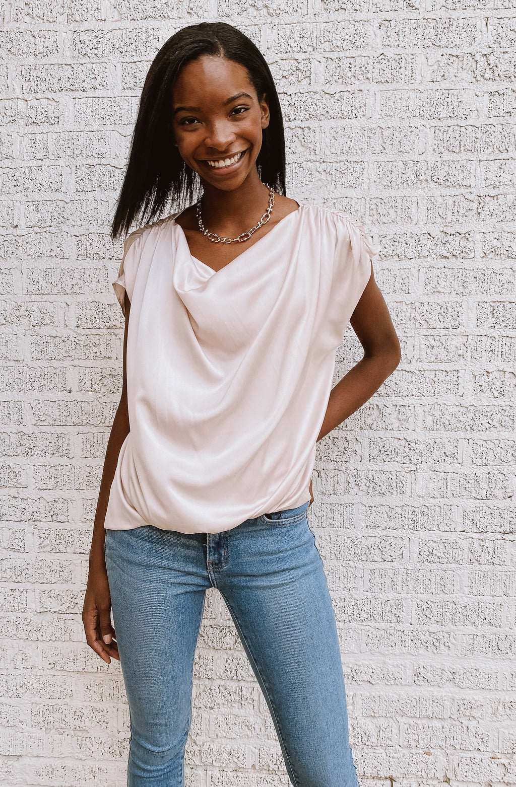 DRAPED IN ELEGANCE BLOUSE