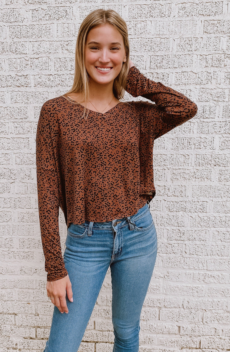 ZERO TROUBLE LEOPARD LONG-SLEEVED SHIRT