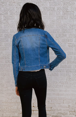 GO TELL IT TO 'EM DENIM JACKET