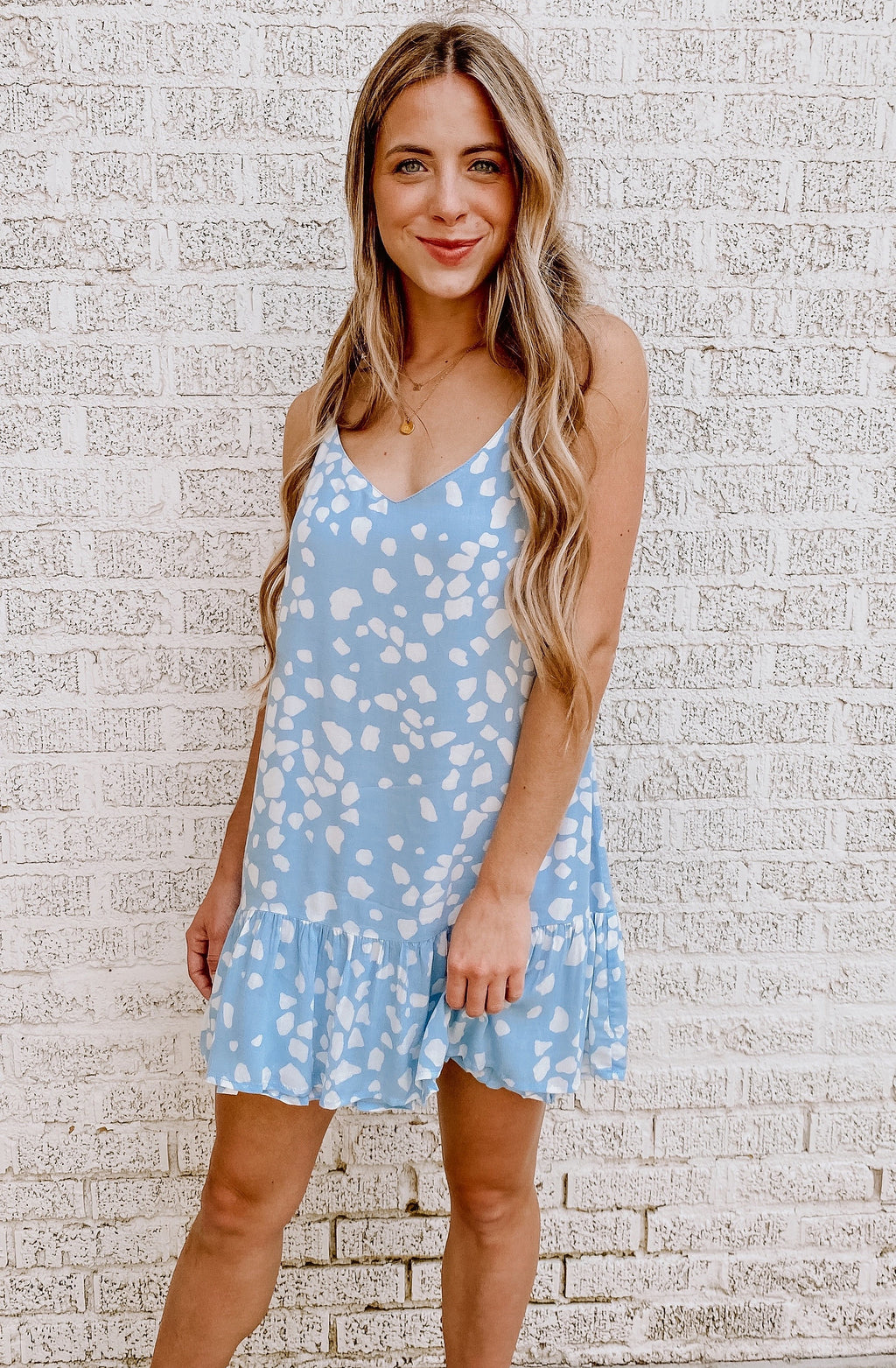 PRECIOUS PETAL SLEEVELESS MINI DRESS