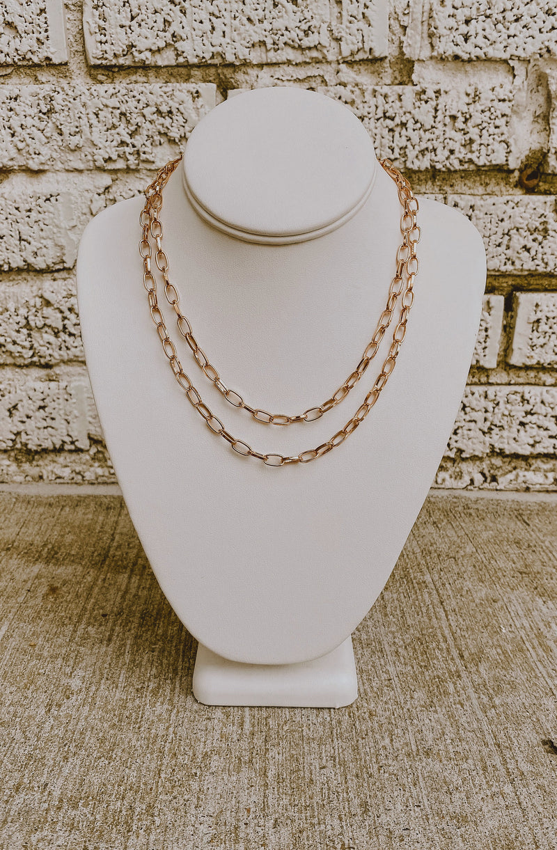 DOUBLE DUTCH CHAIN NECKLACE