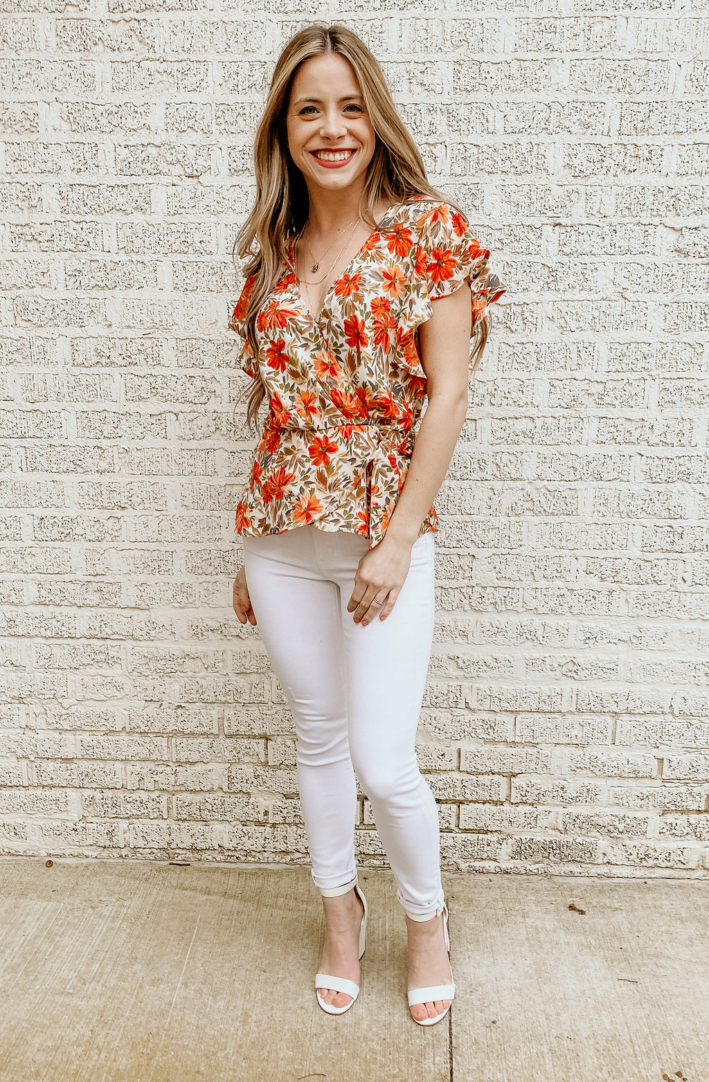 SPRING AGAIN FLORAL BLOUSE