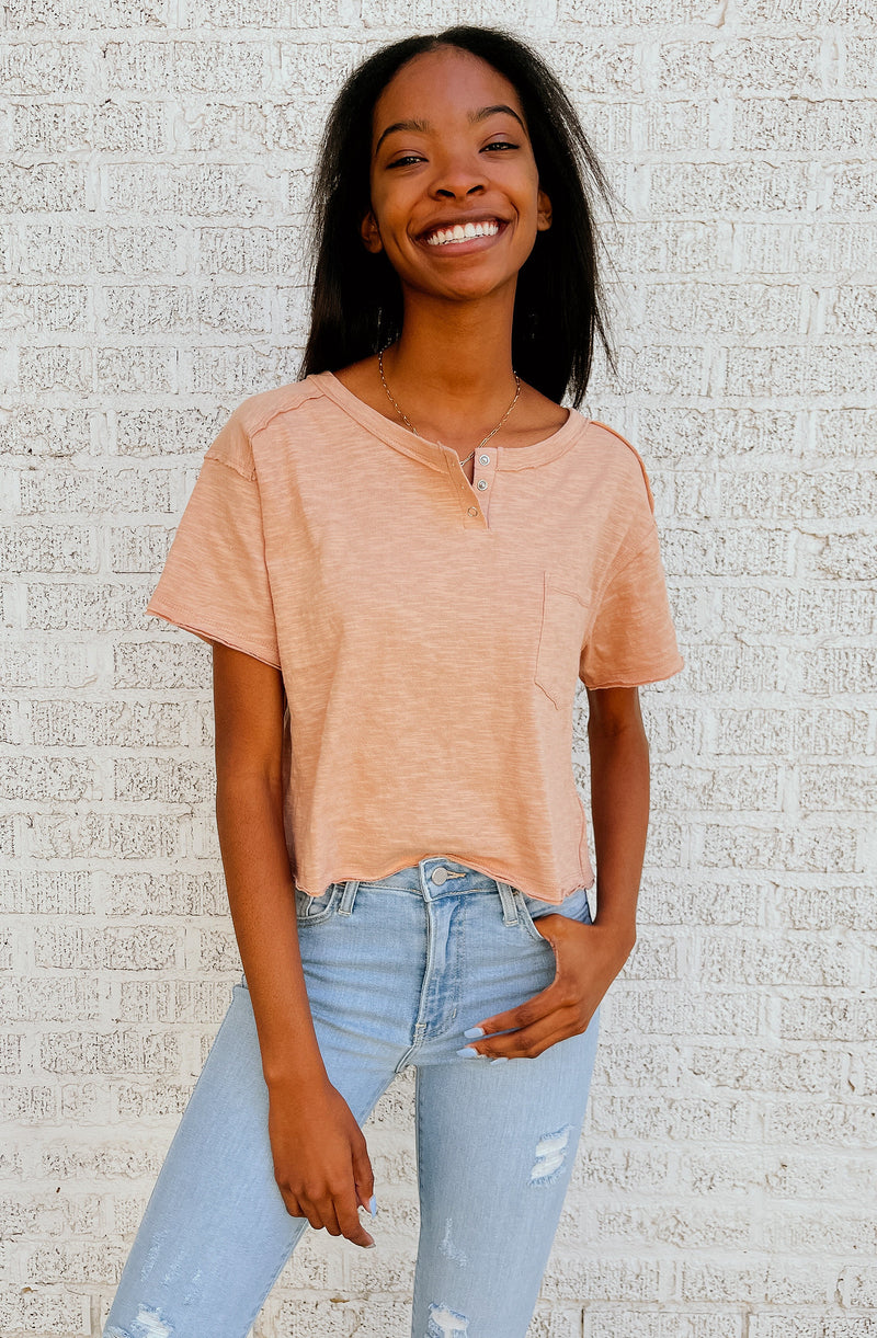 CUTE AS A BUTTON TEE