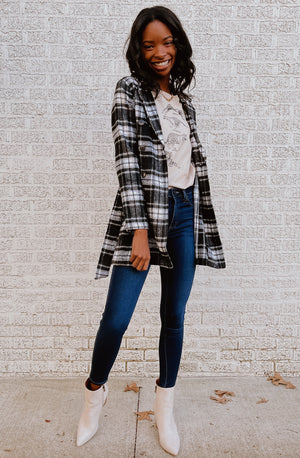 LAY IT OUT PLAID AND SIMPLE COAT