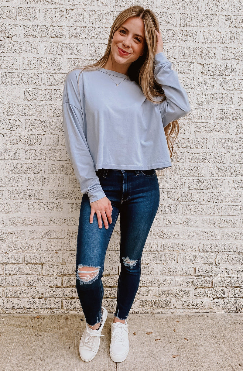 LAID BACK DAYS CROPPED TOP
