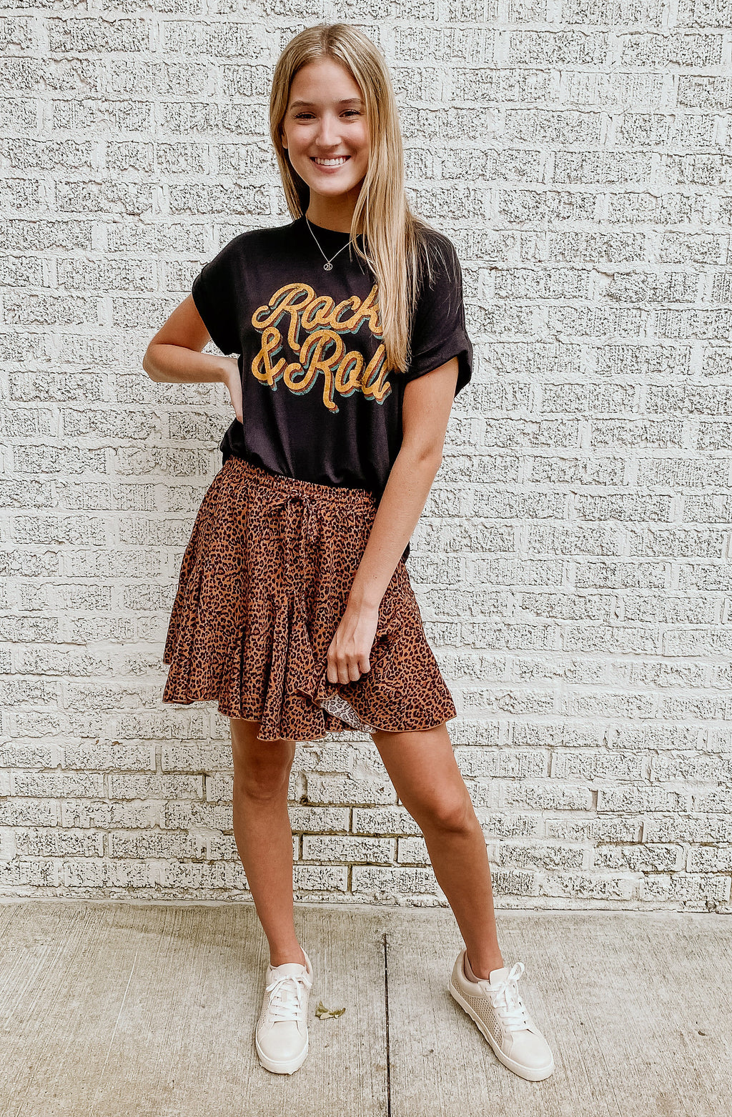 FUN & FRILLY LEOPARD MINI SKIRT
