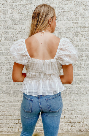 SQUARED AWAY BLOUSE