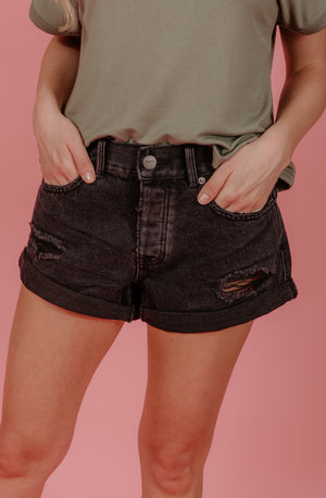 AMUSE SOCIETY CROSSROADS DENIM SHORTS