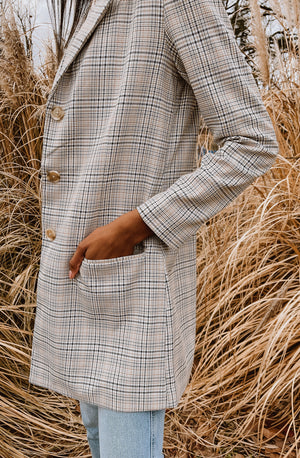 BB DAKOTA PLAID BEHAVIOR LIGHT COAT