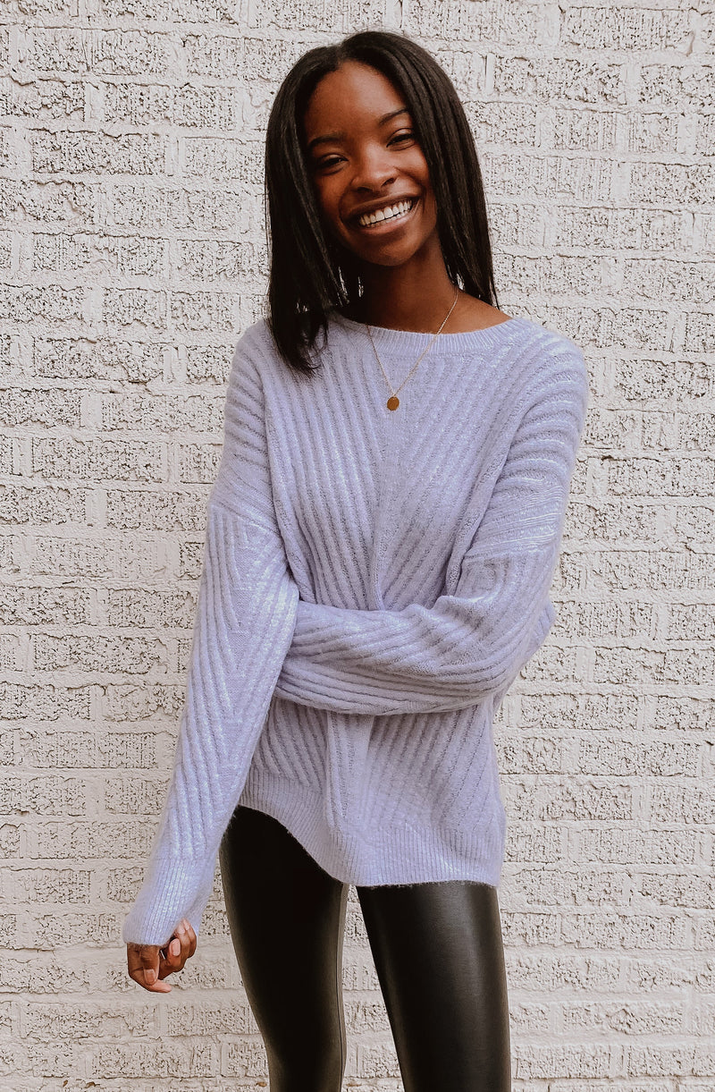 ICY DEW RIBBED SWEATER