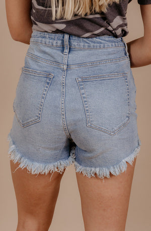 FREE PEOPLE VINTAGE HIGH RISE SHORTS