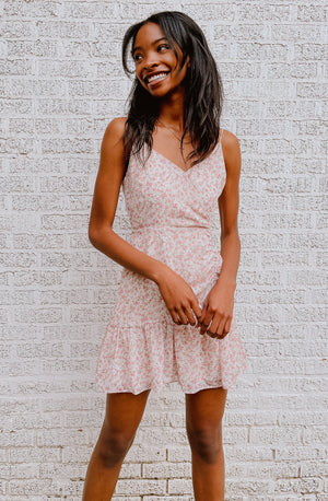 ONCE AND FLORAL MINI DRESS