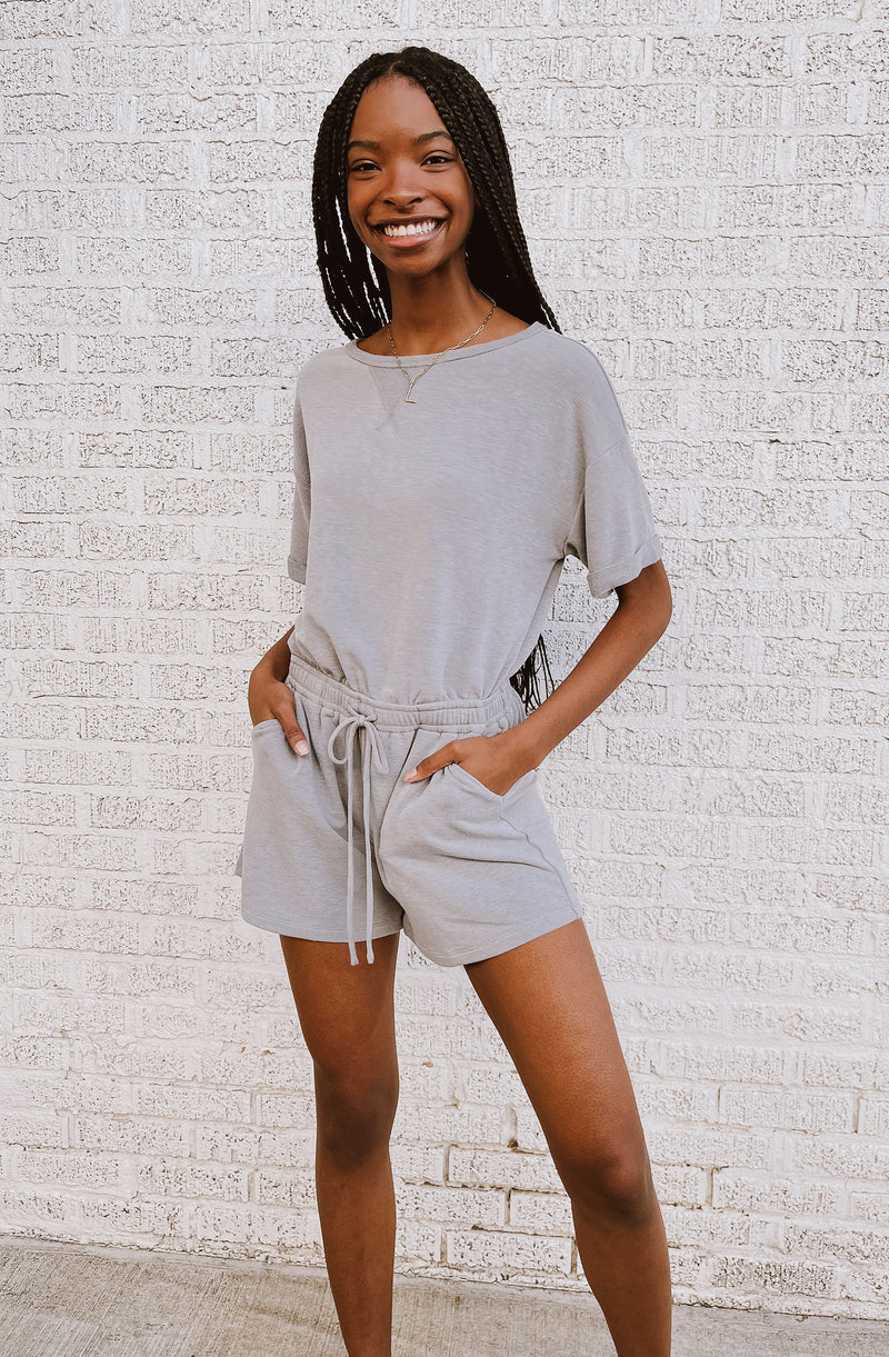 LAID BACK VIBES KNIT ROMPER