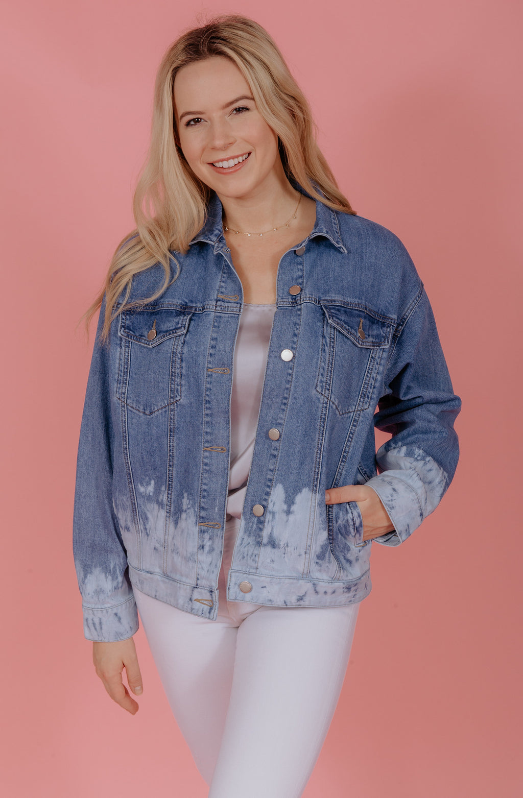 DENIM DREAMS ACID WASHED JACKET
