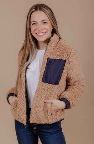 DONT BE A SOFTY REVERSIBLE SHERPA JACKET