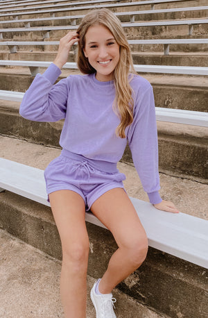 LAVENDER CRUSH SET SWEATSHIRT