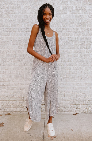 Z SUPPLY MINI LEOPARD JUMPSUIT