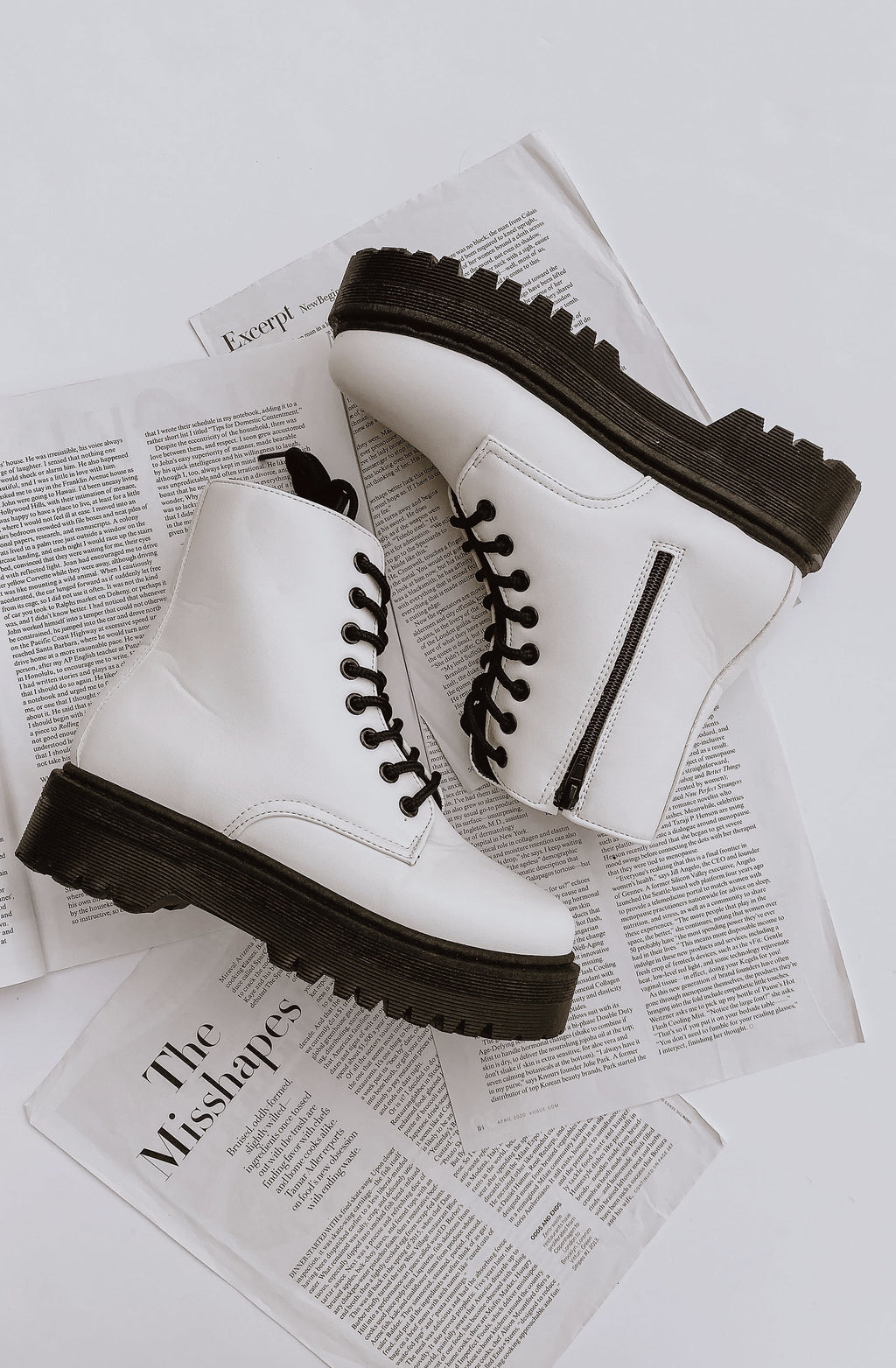 WHITE LIGHTS COMBAT BOOTS