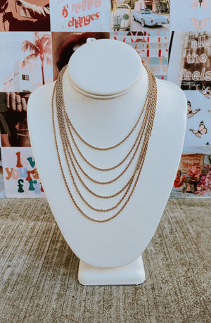 SPARE CHAIN-GE MULTI-LAYERED ROPE NECKLACE