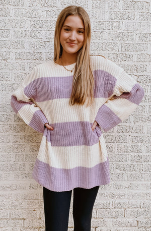 RISE AND STRIPE SWEATER