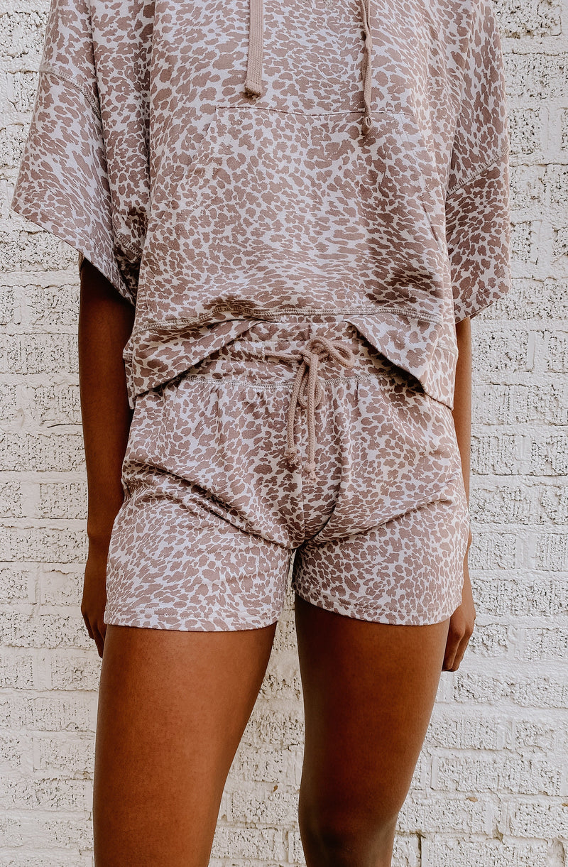 LIVING IN SEPIA CHEETAH PRINT SHORTS