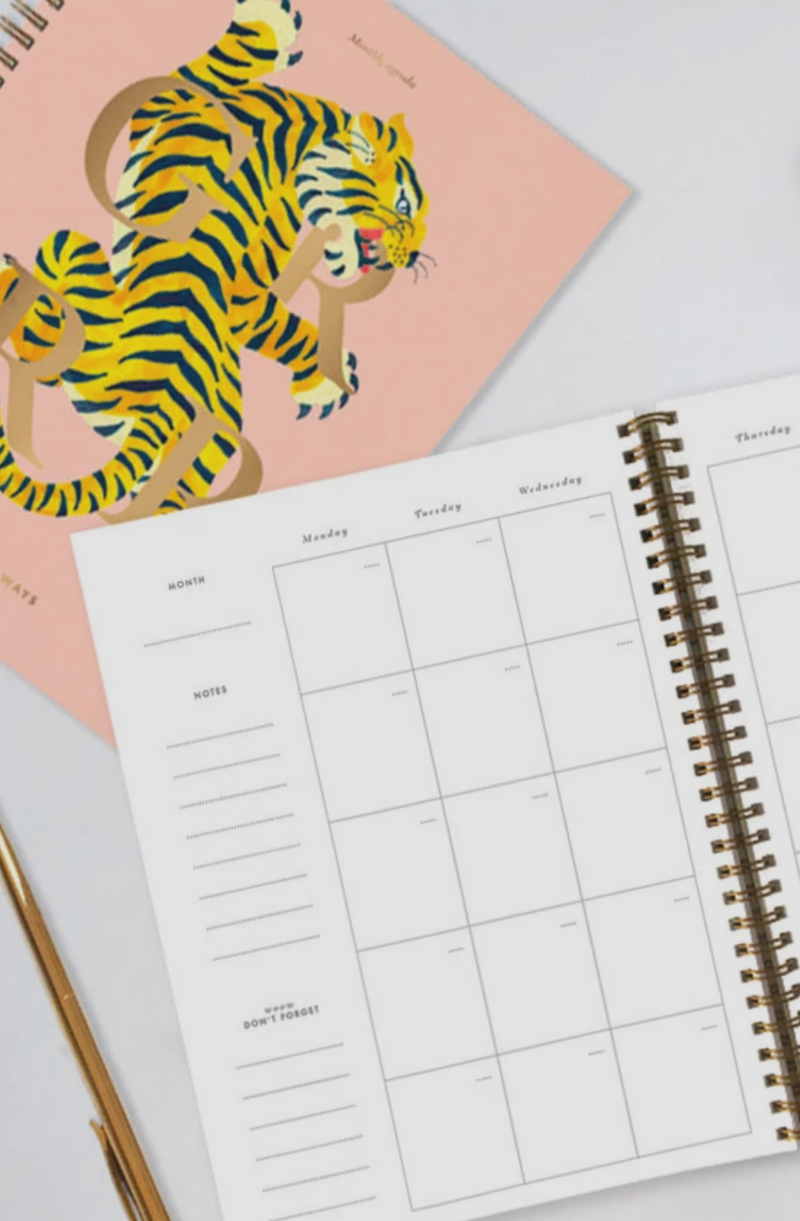 TIGER MONTHLY PLANNER - 18 MONTHS, UNDATED