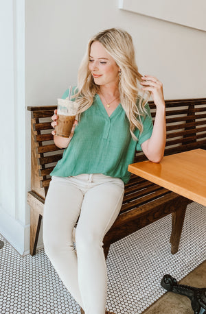 GREEN LIGHT BLOUSE