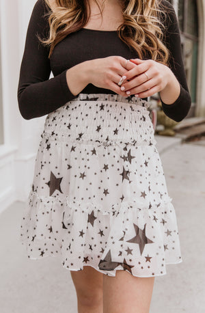 SHOOT FOR THE STARS MINI SKIRT