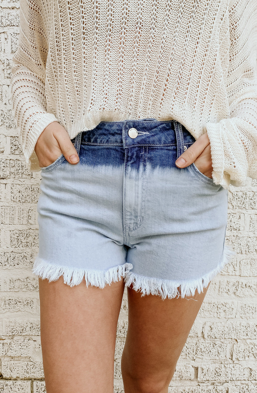 UNDER & OVER OMBRE SHORTS