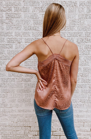 FEELING FLIRTY LACE CAMP TANK