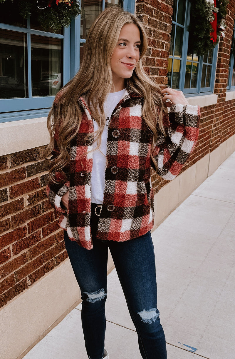 CHECK OUT MY FIT PLAID JACKET