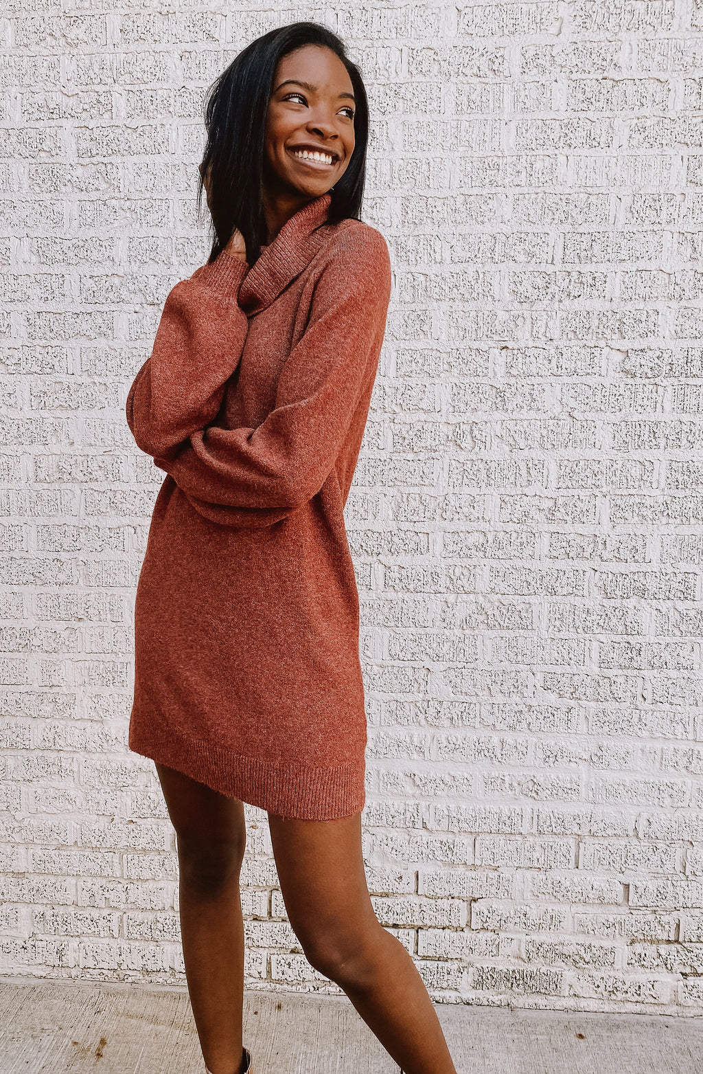 KNIT WAS INEVITABLE SWEATER DRESS