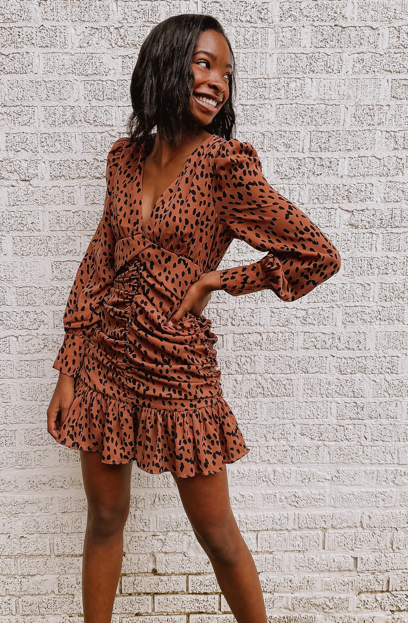 BOLD & BEAUTIFUL CHEETAH PRINT DRESS