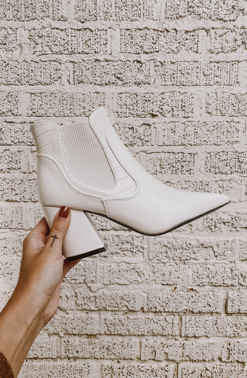 SUPERNOVA FAUX LEATHER BOOTIE