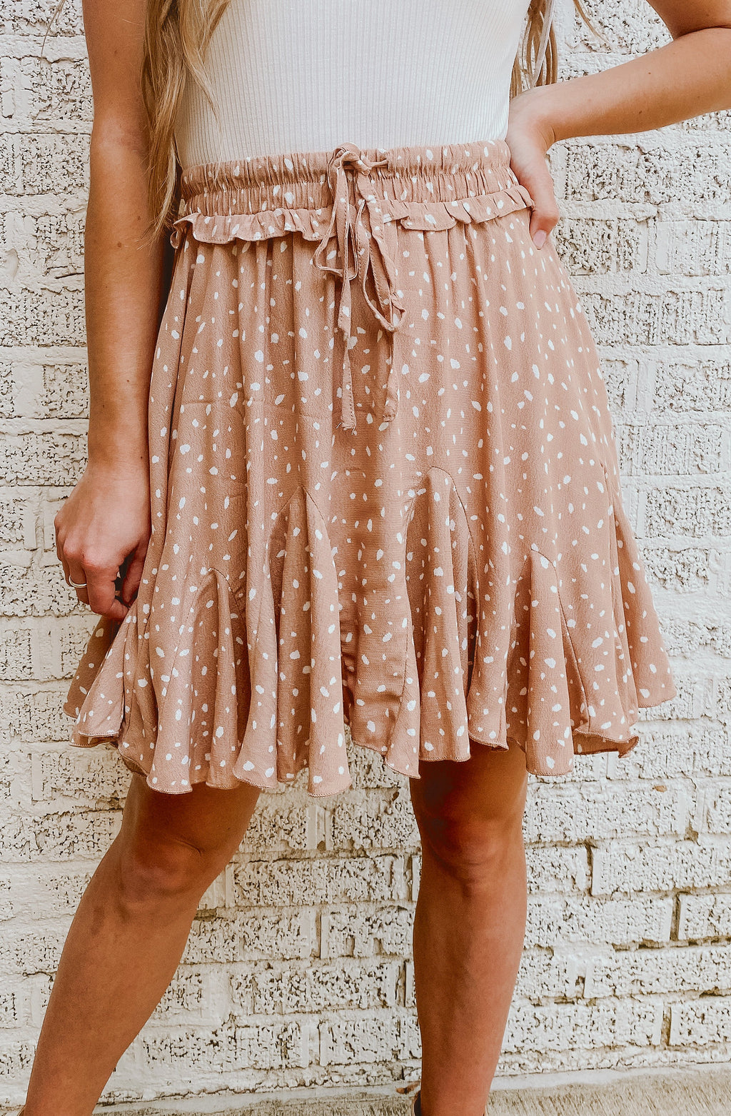 SPECKLED WITH JOY RUFFLE SKIRT