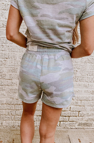 CAMO ON OVER HERE SET SHORTS
