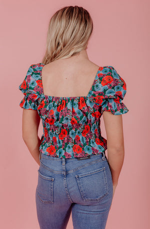 THE ONCE AND FLORAL BLOUSE