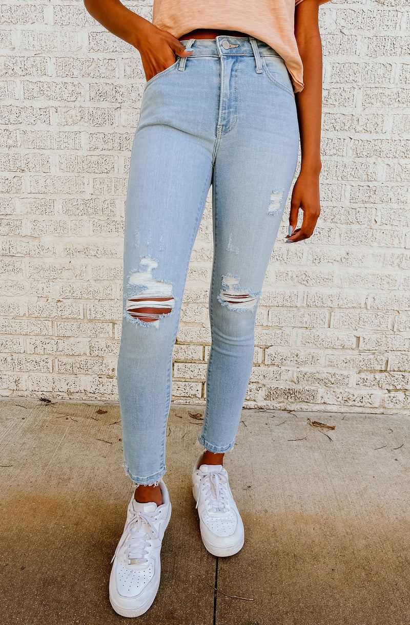 RIP TIDE HIGH RISE SKINNY DENIM JEANS