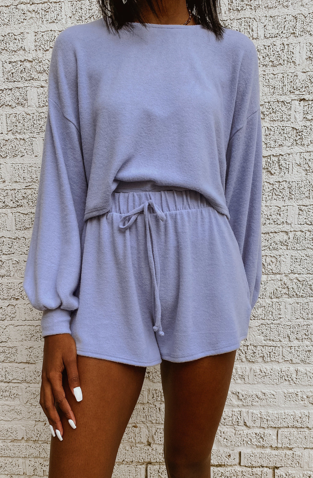 IN THE LAVENDER SEA SET PULLOVER TOP
