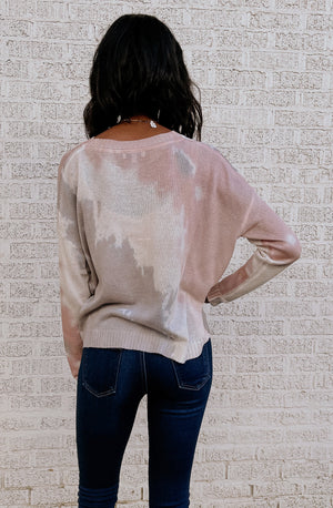 HOLIDAY IN THE COUNTRY TIE DYE KNIT TOP